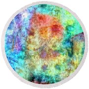 Summer In The Shire Round Beach Towel
