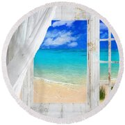 Summer Me Iv Round Beach Towel