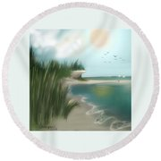 Summer Memory Round Beach Towel