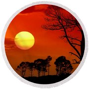 Summer Nights Round Beach Towel