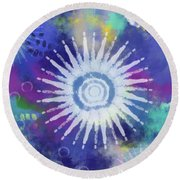Summer Of Love 2- Art By Linda Woods Round Beach Towel