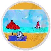 Summer On Nantasket Round Beach Towel