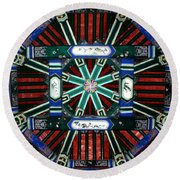 Summer Palace Ceiling Round Beach Towel