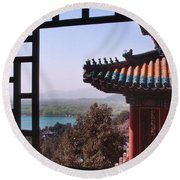 Summer Palace Or Yi He Yuan Round Beach Towel