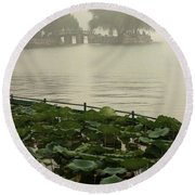 Summer Palace Serenity Round Beach Towel