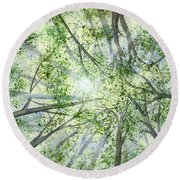 Summer Rays Round Beach Towel