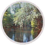 Summer Reflections Round Beach Towel