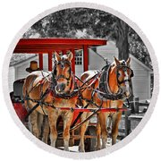 Summer Ride Round Beach Towel