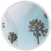 Summer Sky- By Linda Woods Round Beach Towel