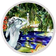 Summer Splendor Round Beach Towel