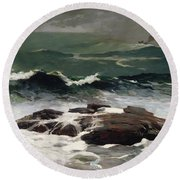 Summer Squall Round Beach Towel by Winslow Homer
