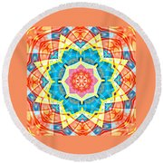 Summer Star Round Beach Towel