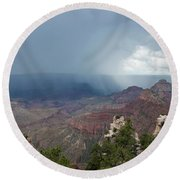 Summer Storm North Rim Grand Canyon National Park Arizona Round Beach Towel