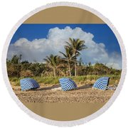 Summer Stripes Round Beach Towel