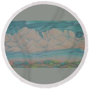 Summer Sunrise Round Beach Towel