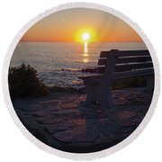 Summer Sunrise, Marginal Way, Ogunquit, Maine  -67904 Round Beach Towel