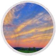 Retzer Nature Center - Summer Sunset #2  Round Beach Towel