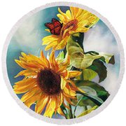 Summer Round Beach Towel