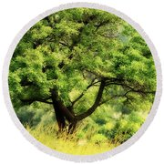 Summer Tree Round Beach Towel