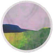 Summer Valey Round Beach Towel