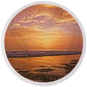 Summer Winds Round Beach Towel