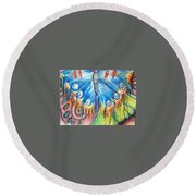 Summerfly Round Beach Towel