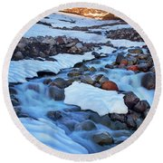 Summerland Creek Round Beach Towel
