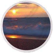 Summers Breath 6 Round Beach Towel