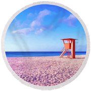 Summer's End Round Beach Towel