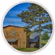Summersville Mill Ozark National Scenic Riverways Dsc02626 Round Beach Towel