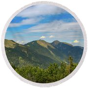 Summertime Alps In Germany Round Beach Towel