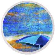 Summertime-iii Round Beach Towel