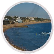Summertime In Albufeira Round Beach Towel