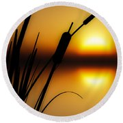 Summertime Whispers  Round Beach Towel