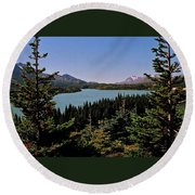 Tagish Lake - Yukon Round Beach Towel