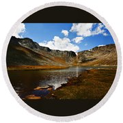 Summit Lake Colorado Round Beach Towel