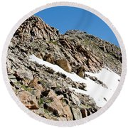 Summiting The Mount Massive Summit Round Beach Towel