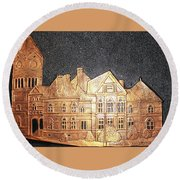 Sumter County Courthouse - 1897 Round Beach Towel