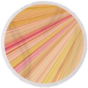 Sun Abstract Round Beach Towel