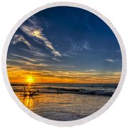 Sun And Surf Round Beach Towel
