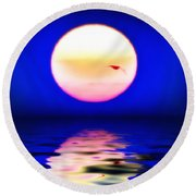 Sun And Water Round Beach Towel