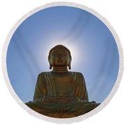 Sun Buddha Round Beach Towel