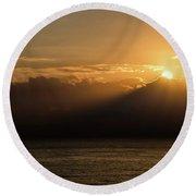 Sun Cloud Mountain Round Beach Towel