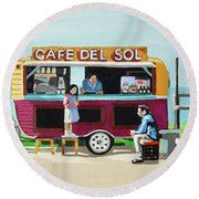 Sun Coffee Round Beach Towel