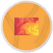 Sun Fire Round Beach Towel