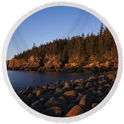 Sun Kissed Acadia Round Beach Towel