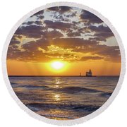 Sun Kissed Round Beach Towel