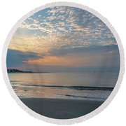 Sun Kissed Morning Round Beach Towel
