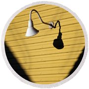 Sun Lamp Round Beach Towel by Dave Bowman