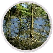 Sun Of The Loch Afternoon. Round Beach Towel